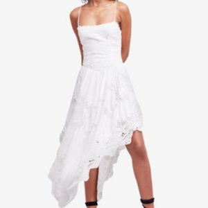 Free People Women's Cream White Asymmetrical Dress